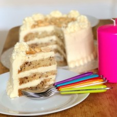Banana and Peanut Butter Layer Cake