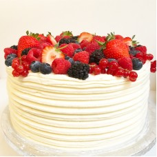 Strawberries and Cream Whole Layer Cake